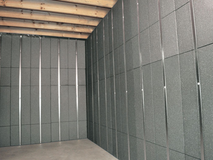 SilverGlo™ Insulation And Metal Studs Making Up Our Basement To Beautiful™  Panels. Installed