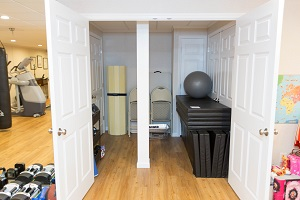 TBF finished basement with home gym in Dover