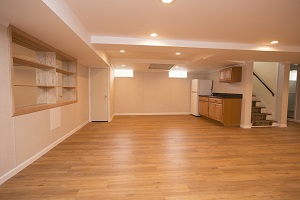 A beautiful, finished basement in Delmarva
