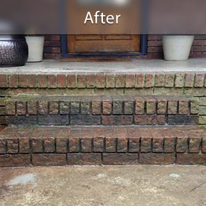 Sinking stairs repaired with PolyLevel® Dover
