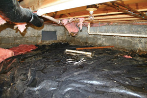 Crawl Space Repair Before in Dover