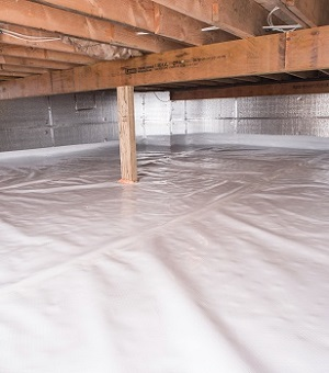 Installed crawl space insulation in Milford